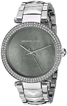 0da20222b634 Amazon.com  Michael Kors Women s Parker Silver-Tone Watch MK6424 ...