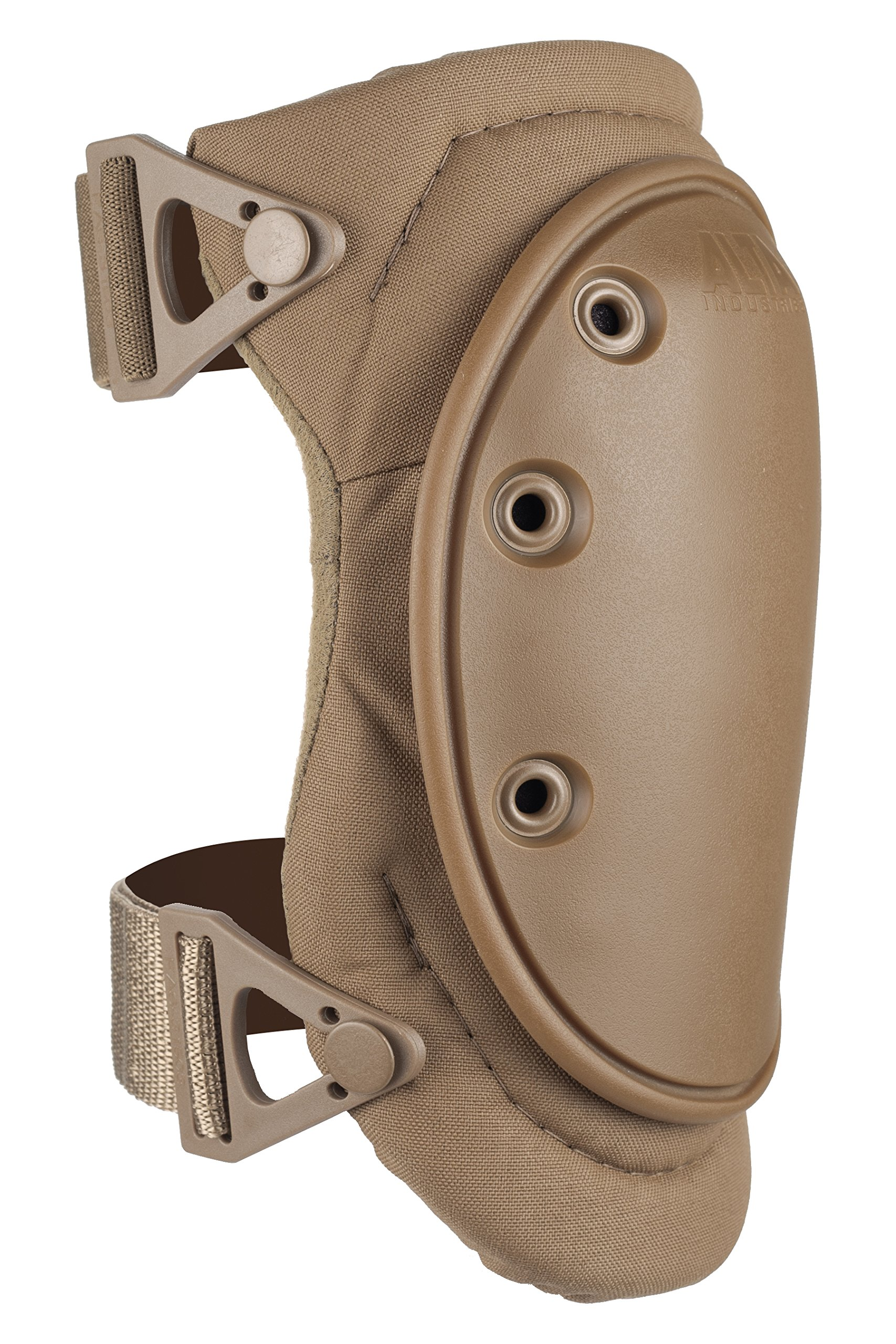 ALTA 50453.14 AltaFLEX Gel Insert Heavy Duty Knee Protector Pad, Coyote Cordura Nylon Fabric, AltaLOK Fastening, Flexible Cap, Long, Coyote