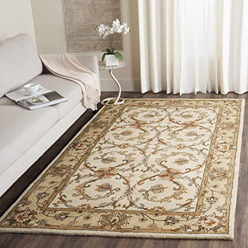 Safavieh Heritage Collection HG967A Handcrafted Traditional Oriental Beige and Gold Wool Area Rug 9' x 12'