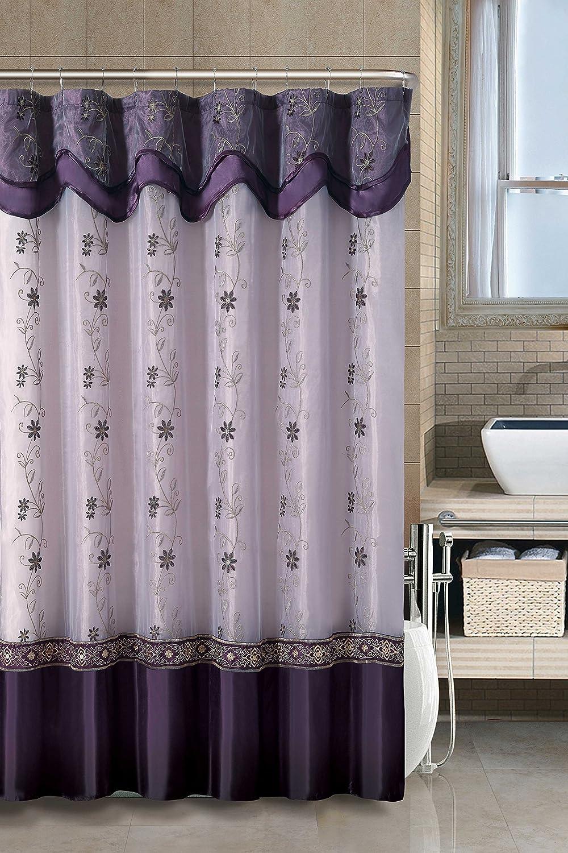 Luxury Home Daphne Shower Curtain, Purple