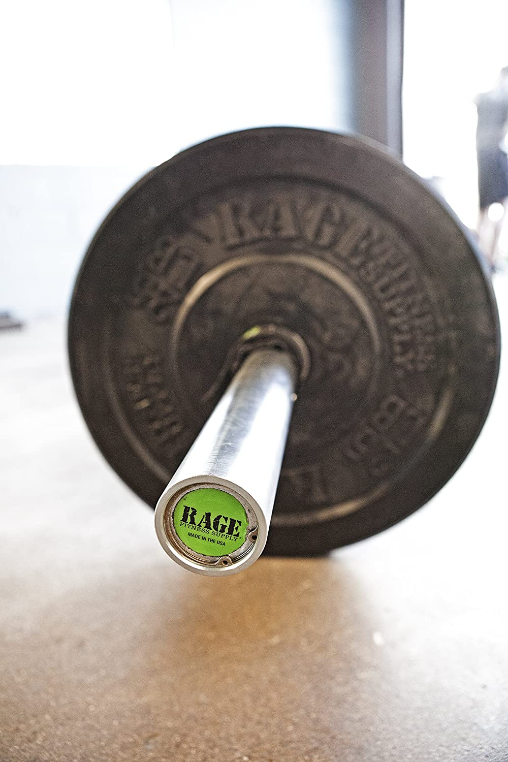 For Weightlifting and Power Lifting 15 lb RAGE Fitness Olympic Training Barbell