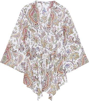 Zara 7782/317/063 - Camiseta de Tirantes para Mujer - Multi ...