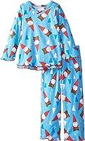 Sara's Prints Girls' Ruffle Top and Pant Pajama Set