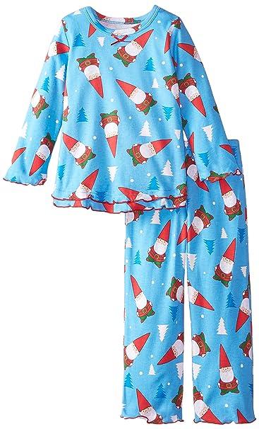 Amazon.com  Sara s Prints Girls  Ruffle Top and Pant Pajama Set ... ac857ad2f