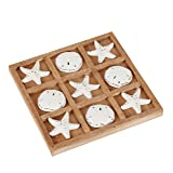 NIKKY HOME Wood Board Travel Game Tic Tac Toe for