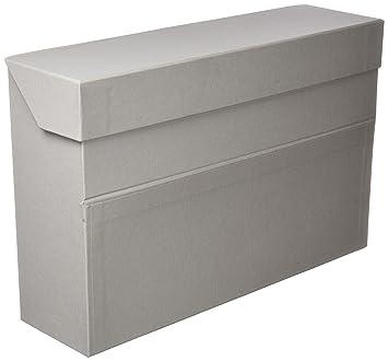 Elba 100580264 - Caja de transferencia de cartón forrado con tela, 10 cm, color
