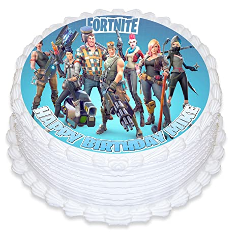 Cake Topper Personalized Birthday 8 Round Circle Decoration Party