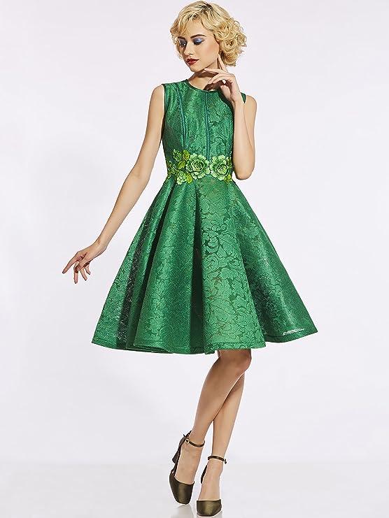 CLOCOLOR - Vestido - Triángulo - para Mujer Verde S: Amazon.es: Ropa y accesorios