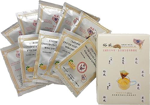 Yu Wei Ginseng – American Ginseng Tea Bag Combo, 10 Bags 6 Flavor