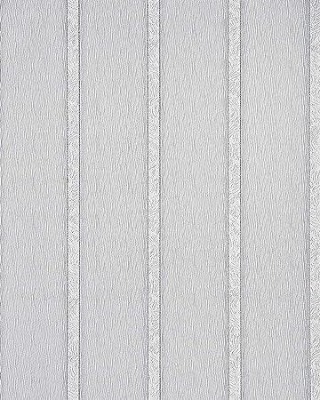 Tapete weiß silber gestreift  Streifen Tapete EDEM 174-30 Design Tapete Vinyltapete matt-weiß ...