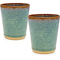 Castle Arch Pottery Set Of 2 Glasses, Handmade In Ireland, Ideal For Coffee and Tea, Use For Hot and Cold Beverages 6.8 fl oz.