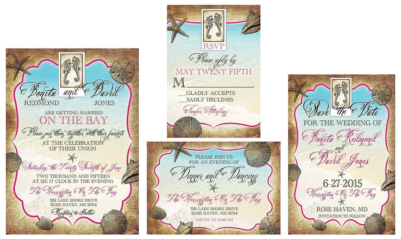 Amazon.com: The Tropical Destination Wedding Invitation Sample Set ...