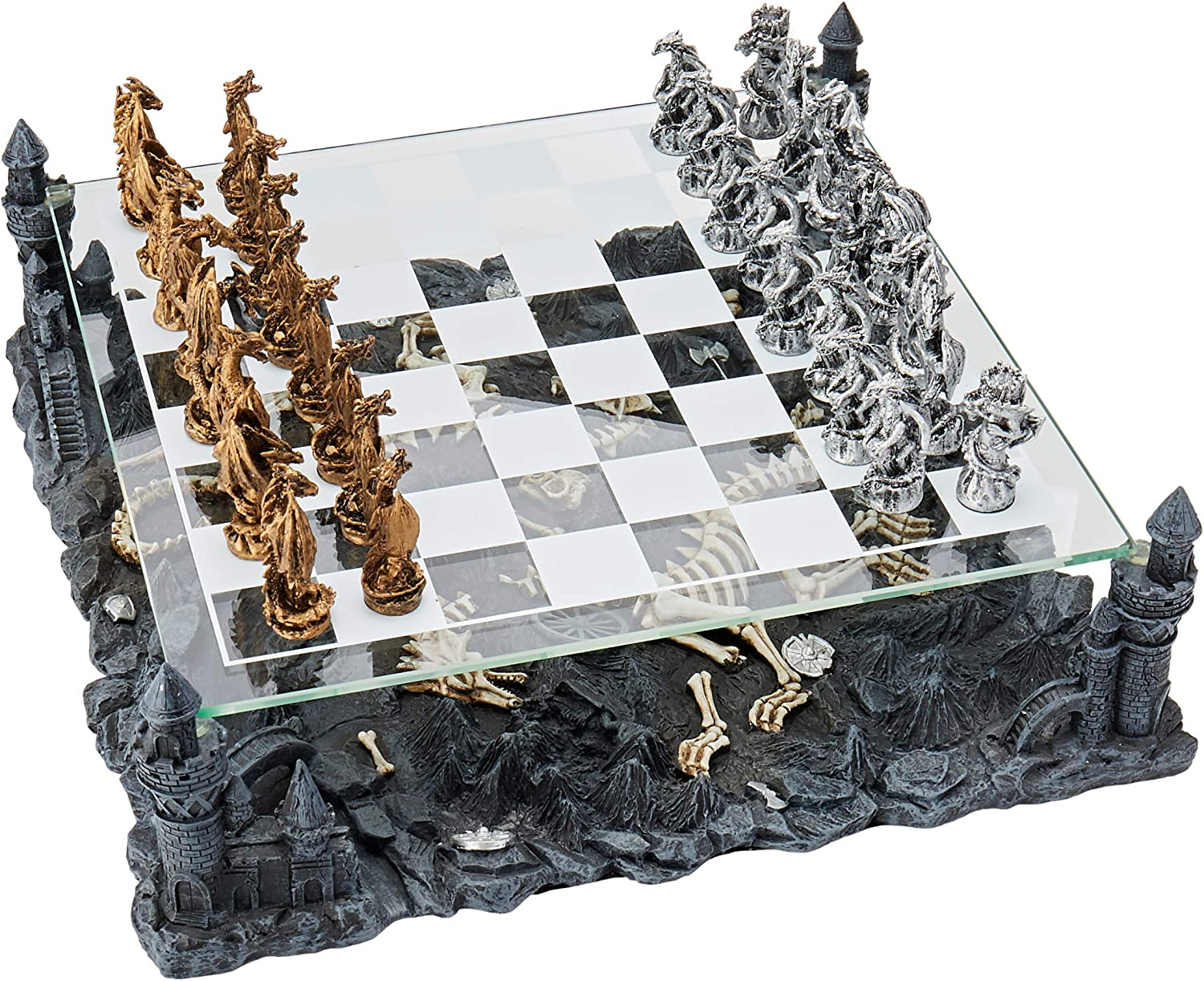 Amazon Com Dragon Chess Set Toys Games