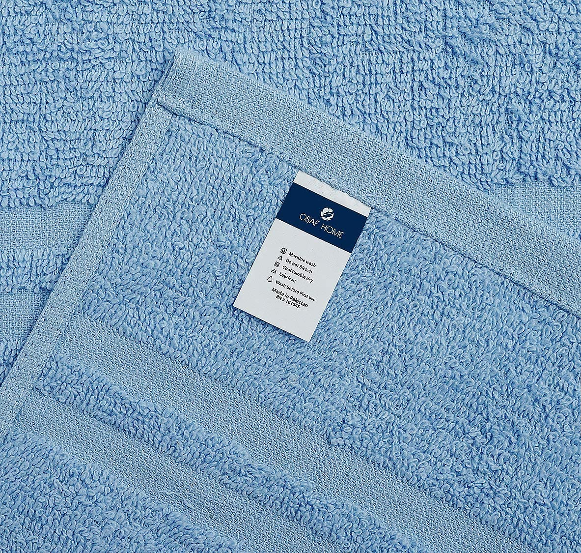 MEDICASCRUBS 100% Organic Cotton Bath Towels Set Pk 6-Ultra Soft Large Bath Towel- Blue Bath Towel Set-Highly Absorbent Daily Usage Bath Towel-Ideal for Pool Home Gym Spa Hotel-Bath Towel Set 22 x 44: Home & Kitchen