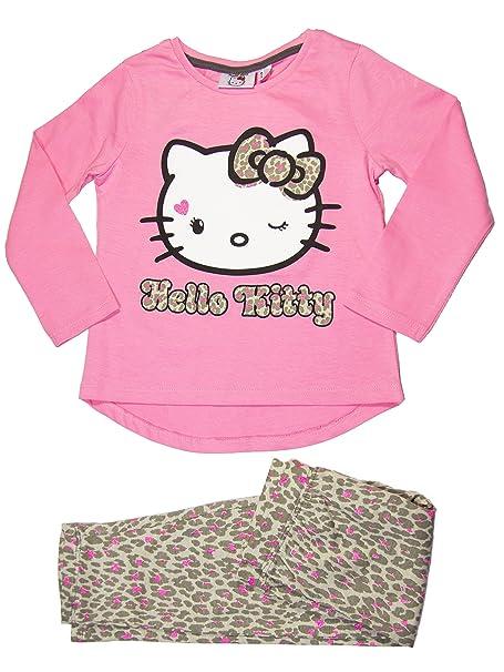 Oficial de Hello Kitty niña pijama conjunto 3 años, 4 años Rosa rosa 8 años
