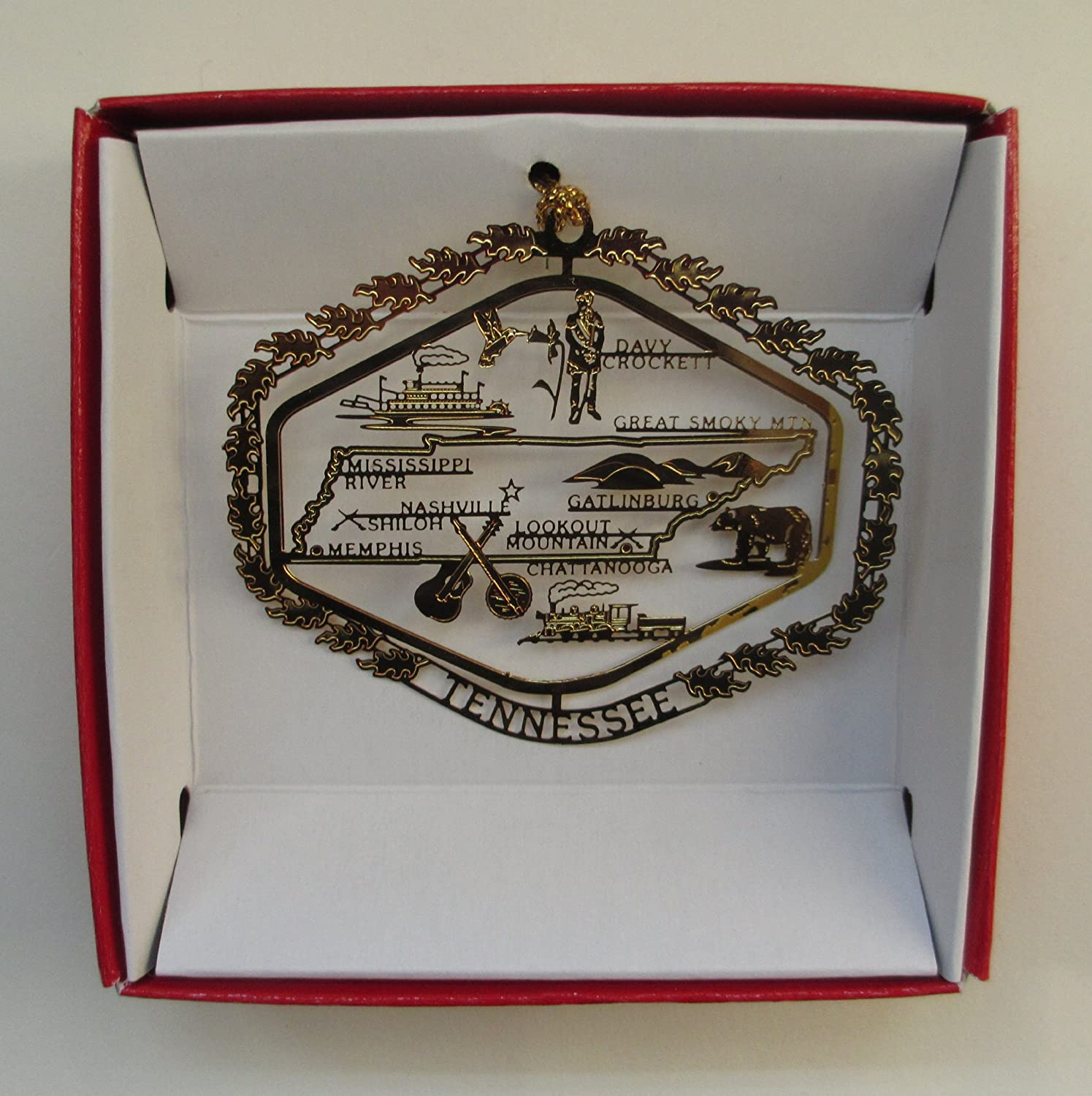 Tennessee State Christmas ORNAMENT Souvenir Gift