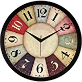 IT2M 11.75 Inches Designer Wall Clock for Home/Living Room/Bedroom/Kitchen (9042B)