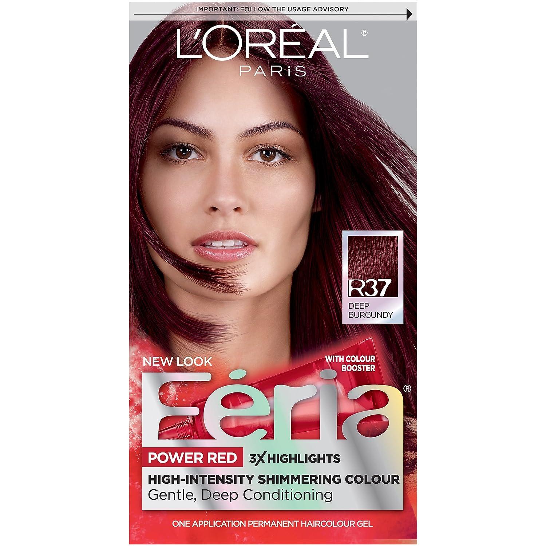 Loral Paris Feria Permanent Hair Color R37 Blowout Burgundy Deep