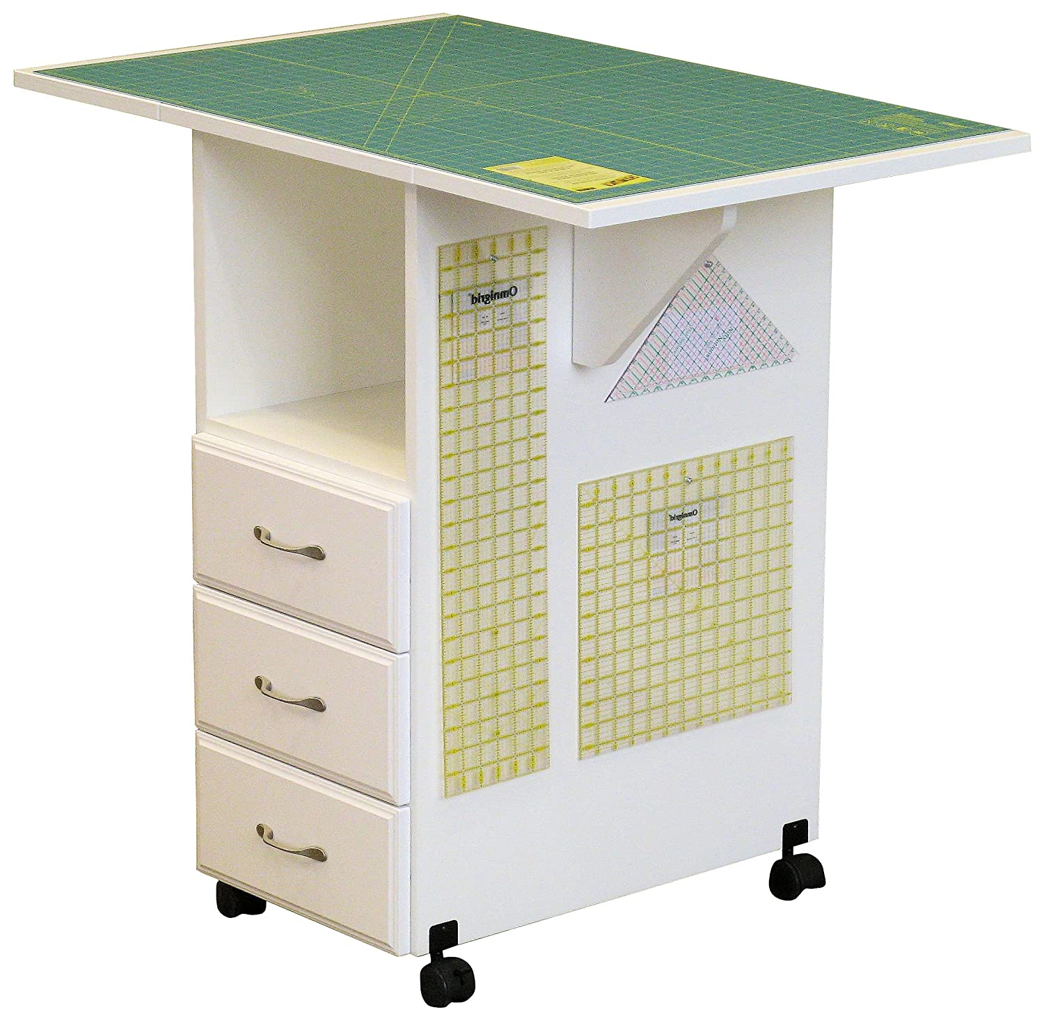 Amazon.com: Model 93c Cutting/Craft Table 3 Drawer Cutting/Craft Table In  White