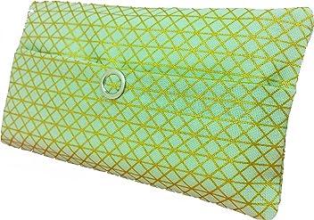 Taschentücher Tasche grün gold Geometrie Dreieck Design Adventskalender Befüllung Wichtelgeschenk Mitbringsel Give away Mitarbeiter Weihnachten