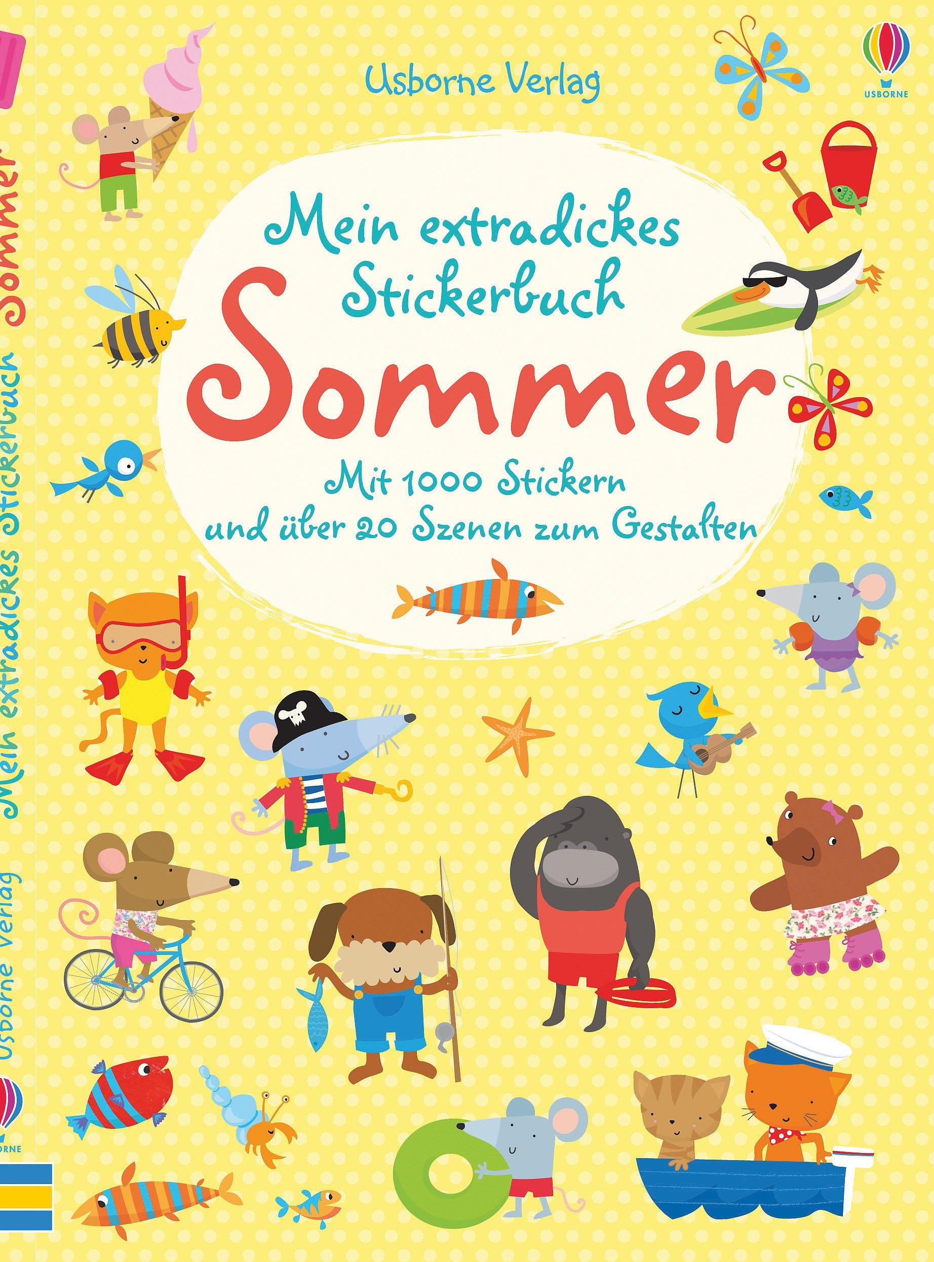 Mein extradickes Stickerbuch: Sommer: Mit 1000 Stickern und über 20 Szenen zum Gestalten
