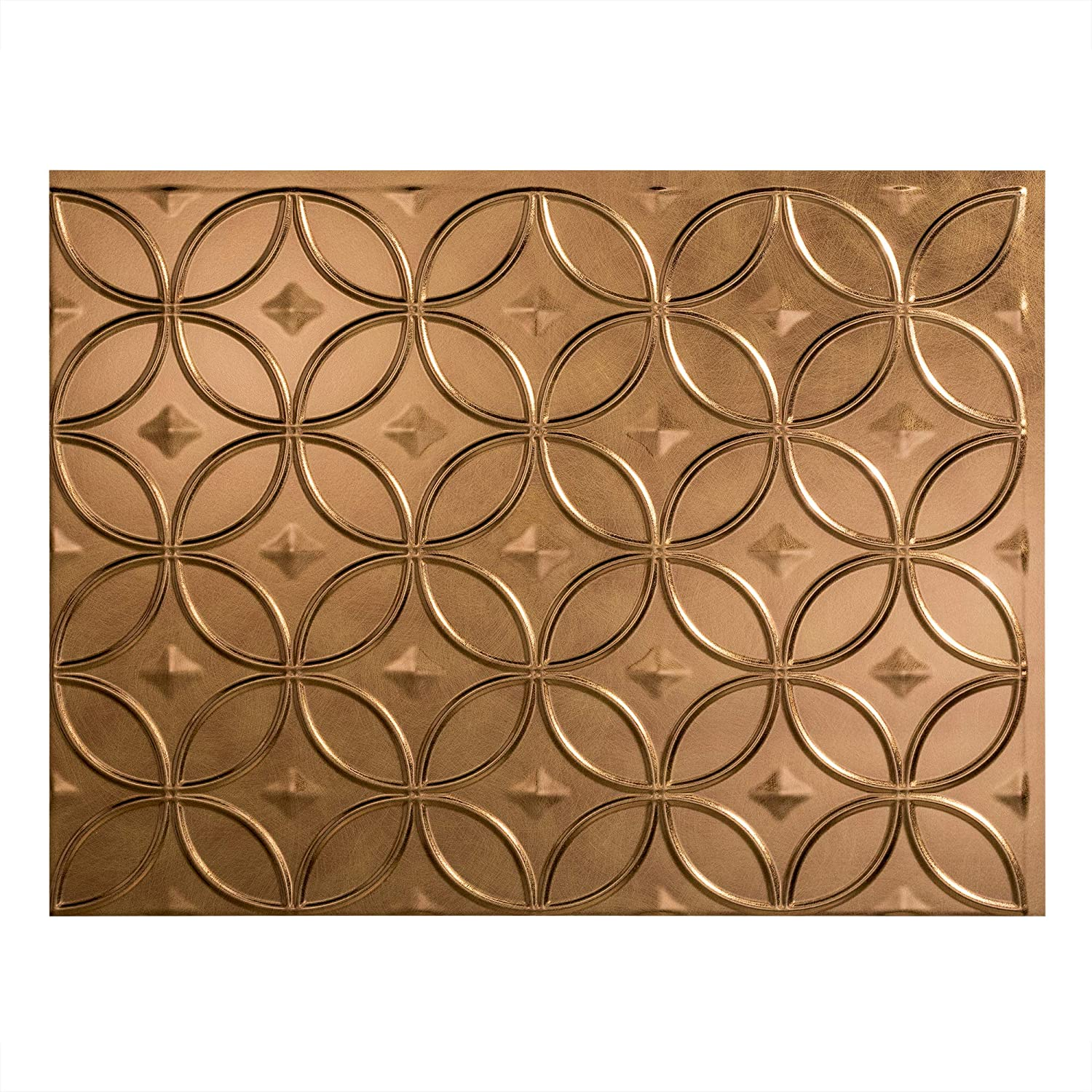 - FASÄDE Rings Decorative Vinyl Backsplash Panel In Antique Bronze