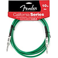 Fender California 10-feet Instrument Cable, Surf Green