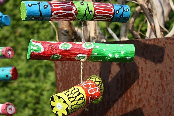 Mobile, Windspiel, Gartendekoration aus Holz: Amazon.de: Handmade