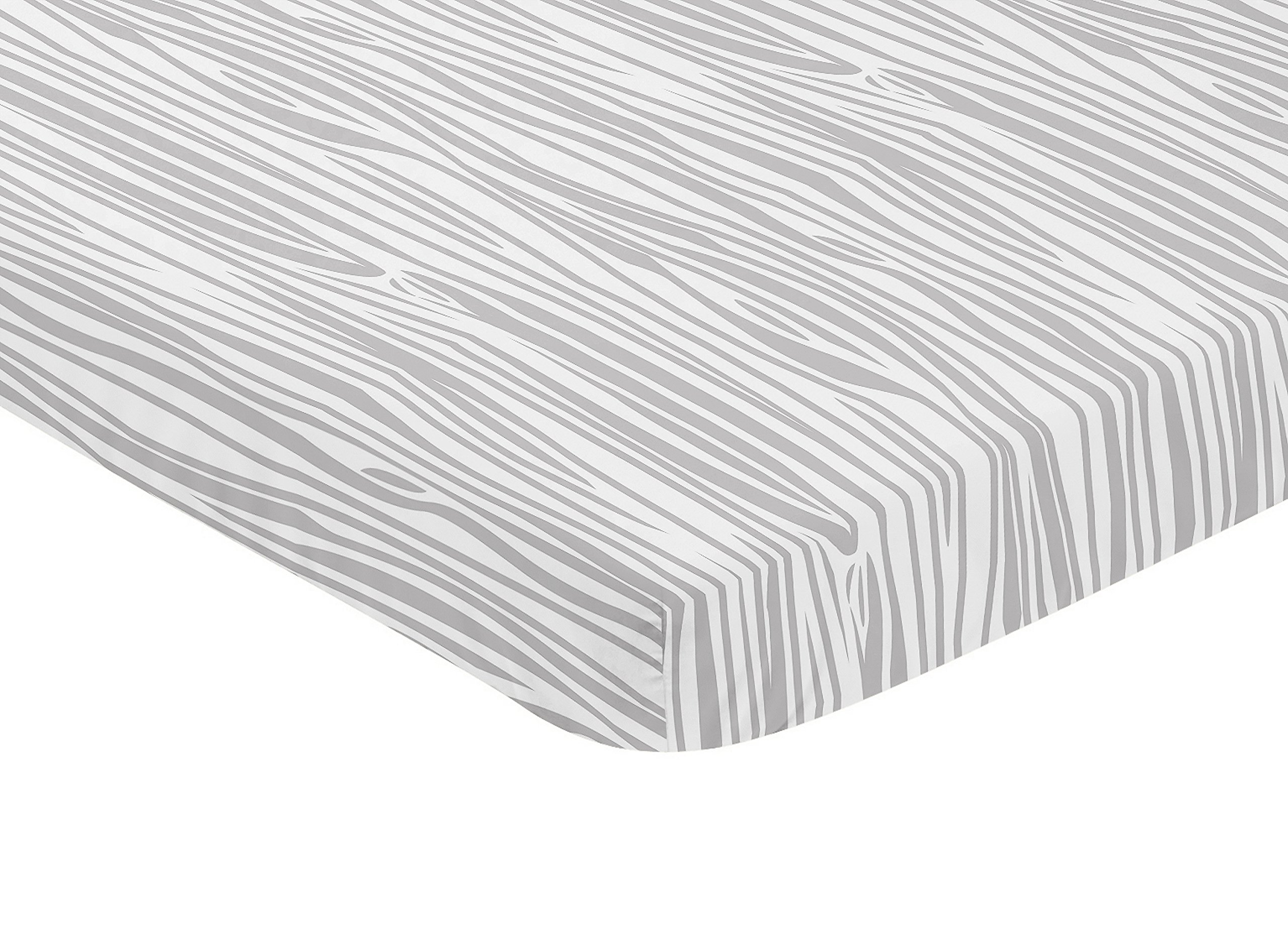 Sweet Jojo Designs Grey Wood Grain Baby Fitted Mini Portable Crib Sheet for Woodland Animals Collection