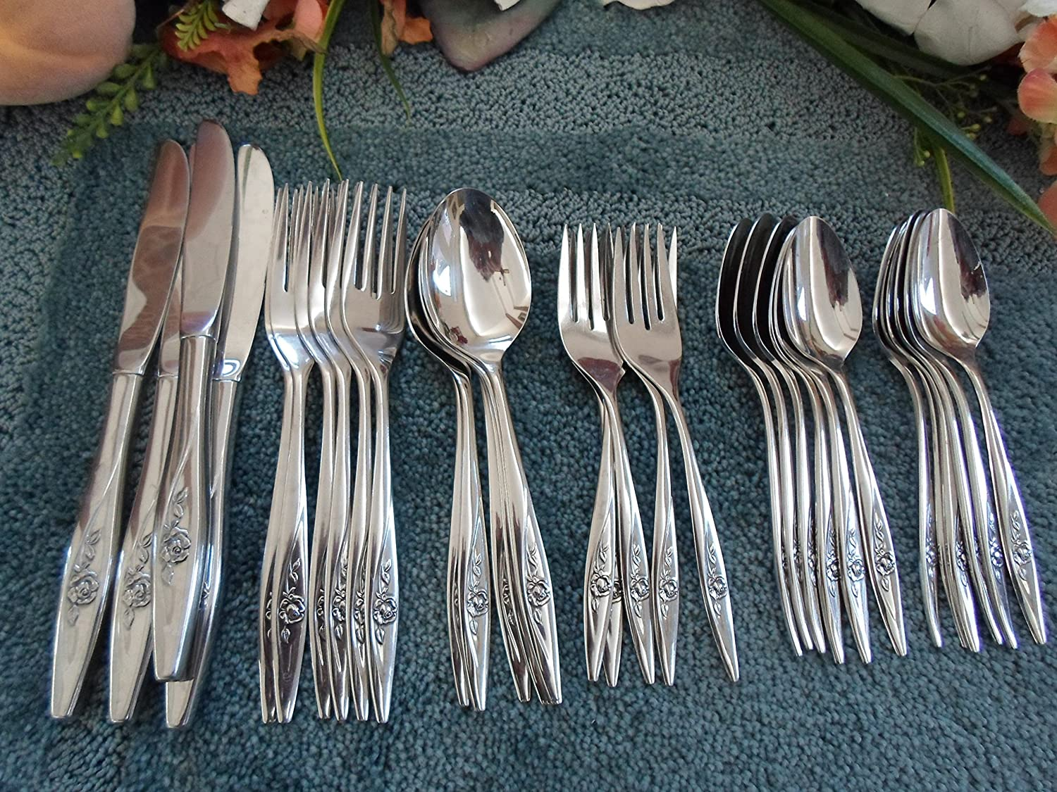 Vintage Oneidacraft Chateau Deluxe Stainless Flatware