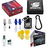 Earplugs for Shooting Ear Protection - 4 Pair High Fidelity Reusable Ear Plugs for Sleeping, Swimming, Music, Working – BONUS Cord & Noise Cancelling 30 dB Foam Hearing Protection – Great as a GiFT