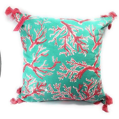 Amazon.com: Simply Southern - Cojín relleno de coral de ...
