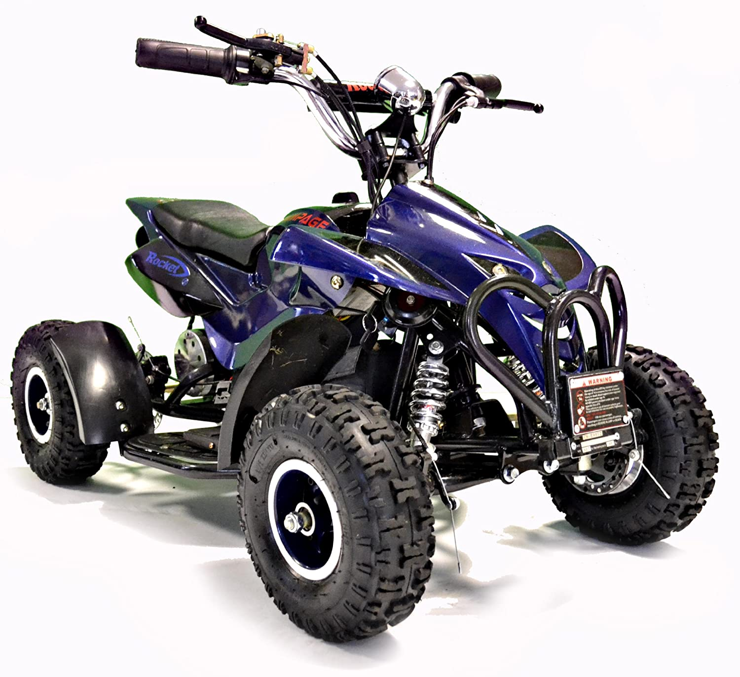 Kids Rocket Rampage Extreme 1000w Electric Battery Quad Bike 36v Rims Plug Wiring Diagram 1000 Watt Ride On Blue Toys Games