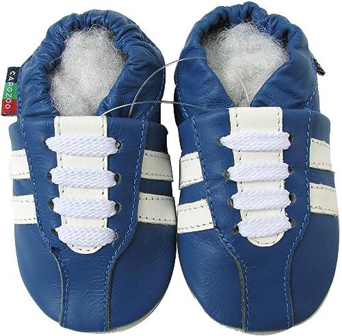 Carozoo Dolphin Dark Blue Baby Boy Soft Sole Leather Shoes