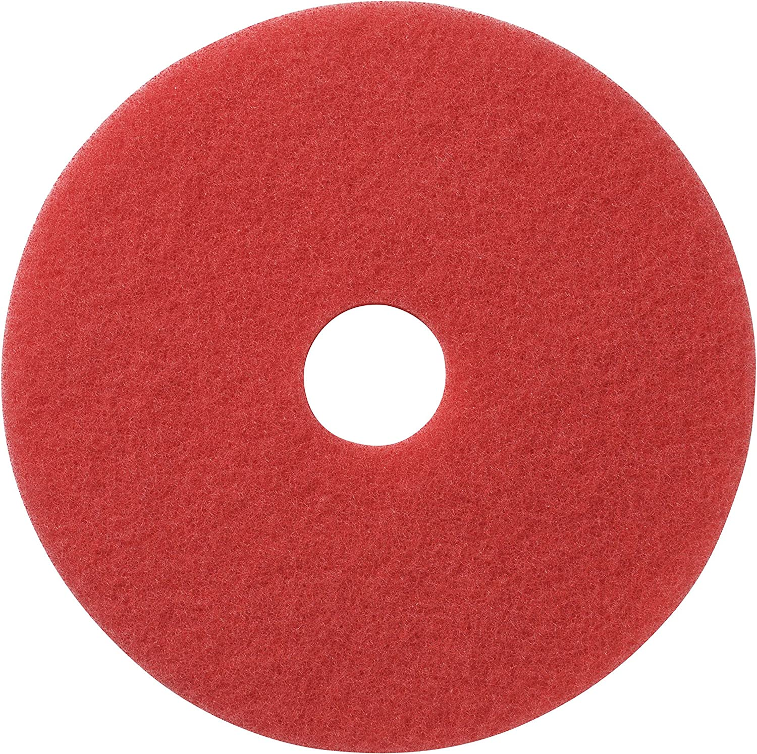 "Glit / Microtron 404420 Daily Cleaning and Buffing Pad, 20"", Red (Pack of 5)"