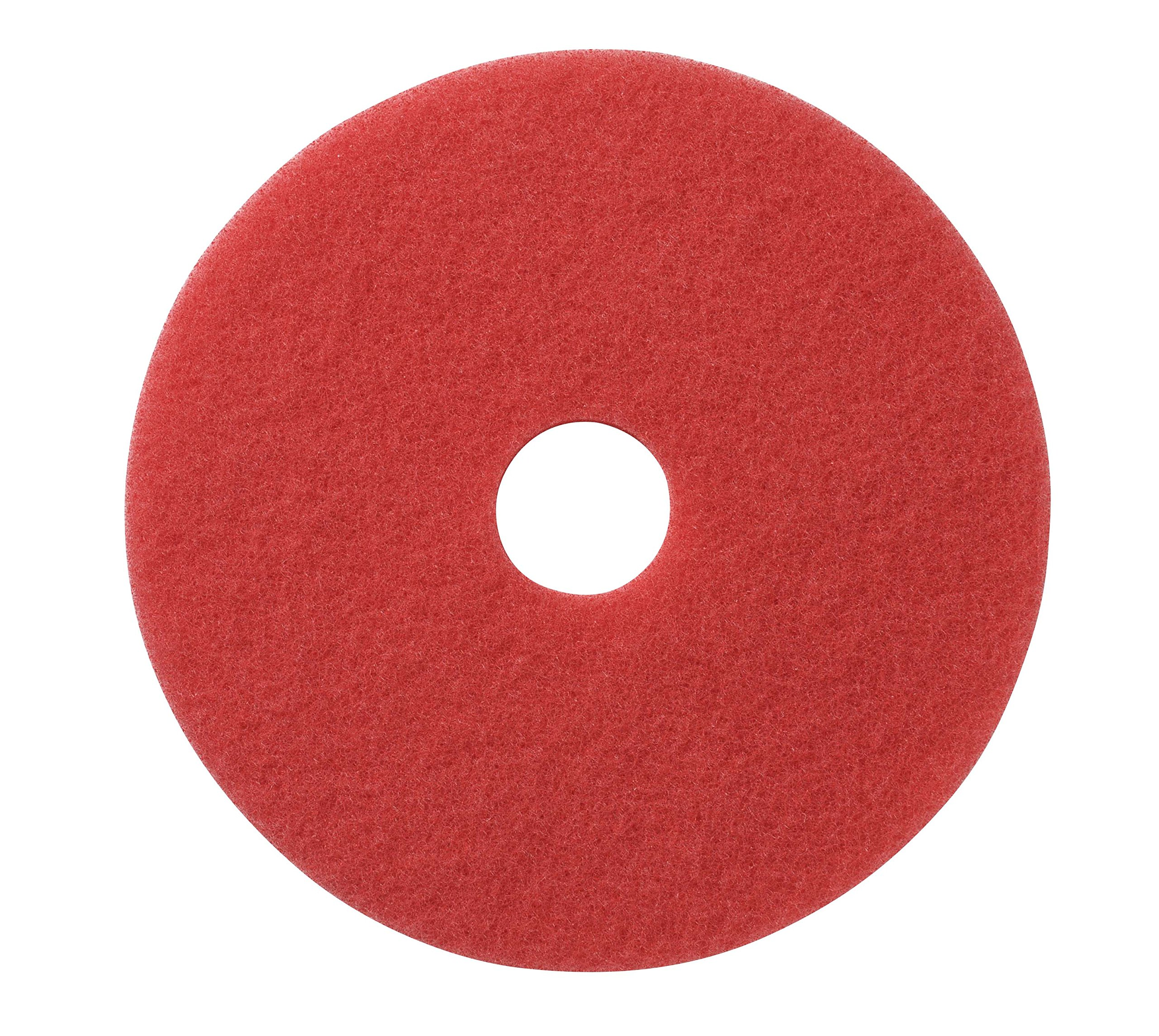 Glit/Microtron 404417 Daily Cleaning and Buffing Pad, 17'', Red (Pack of 5) by Glit / Microtron