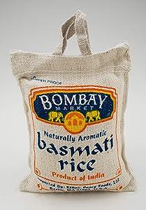 Bombay Market Basmati White Rice - 4 Pound Bag