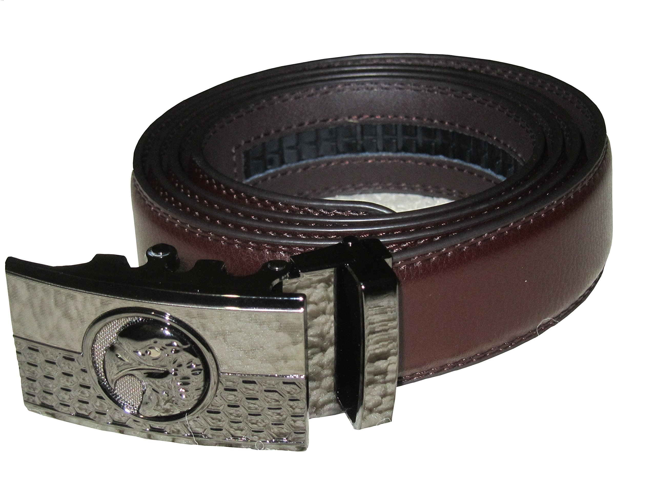 RiverView Enterprise American Eagle Leather Light Duty Dress Belt- for Concealed Carry Tactical Use (CCW) (Dark Brown)
