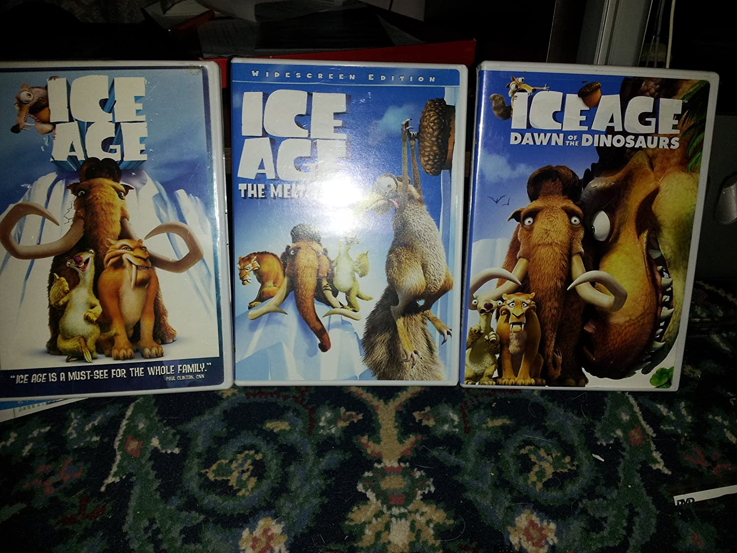 Amazon Com Ice Age Triple Pack Widescreen Ice Age Ice Age The Meltdown Ice Age Dawn Of The Dinosaurs Dvd Movies Tv