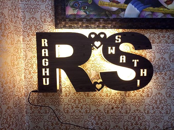 Buy Apna Photo Customized Couple Alphabets LED Night Lamp Perfect