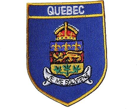 CANADA Bouclier Forme avec bord rouge drapeau iron-on patch crest badge.. Neuf