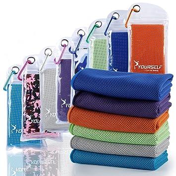 Syourself - Toalla refrescante para alivio instantáneo. Toallas refrescantes para yoga y fitness de 100 cm x ...