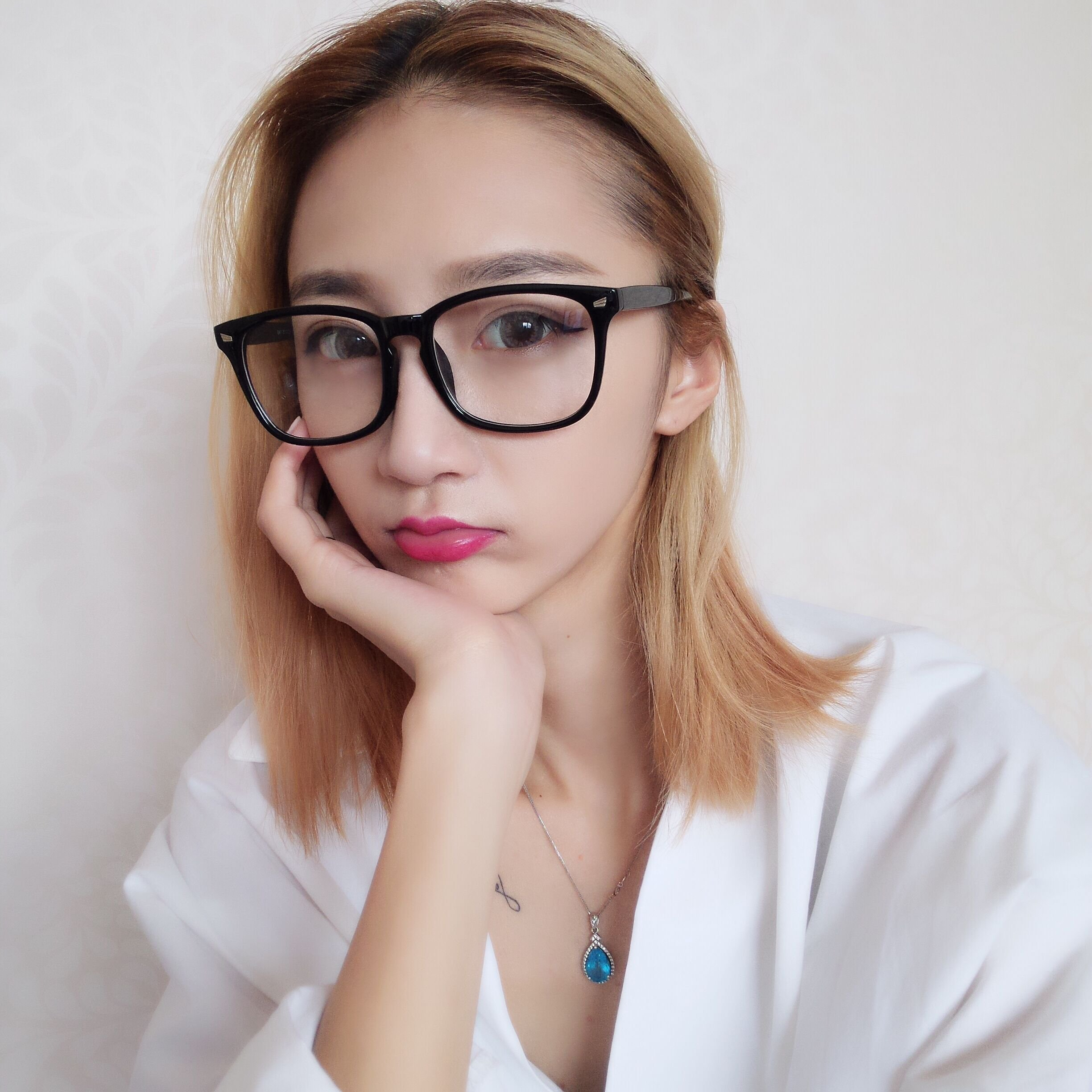 Generic School literary star with plain mirror m nail spectacle frames a face-lift Korea retro large-framed glasses unisex