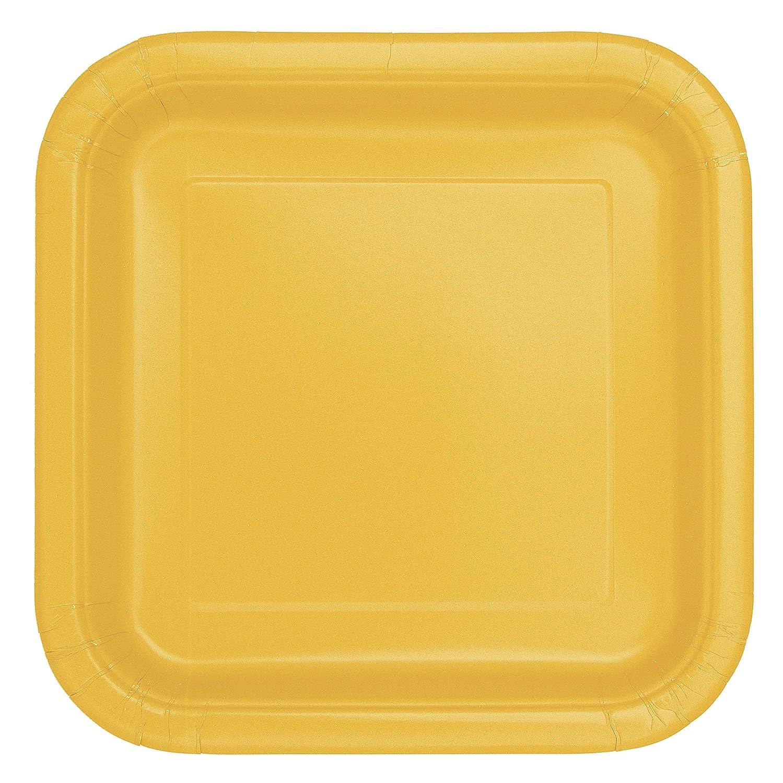 sc 1 st  Amazon.com & Amazon.com: Square Yellow Paper Plates 14ct: Kitchen \u0026 Dining