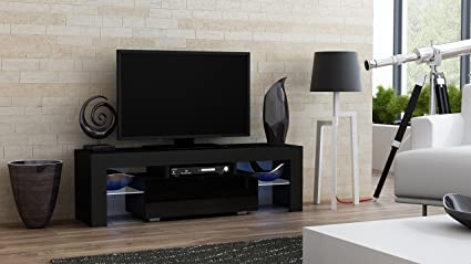 Amazon.com: TV Stand MILANO 130 / Modern LED TV Cabinet / Living ...