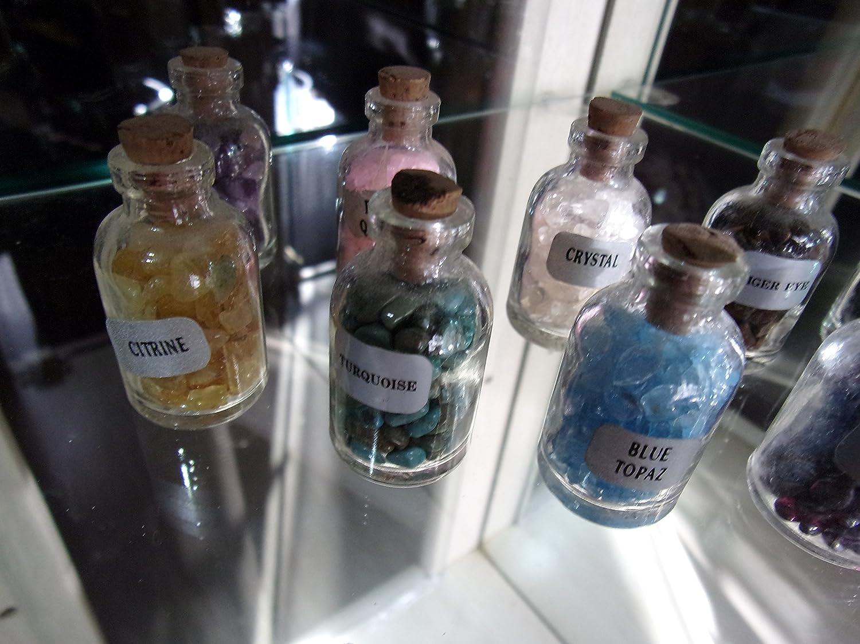 3a10eda64173 12 Crystal CAVE Gemstones Sale Genuine Protection Healing Power Glass Vial  Gems