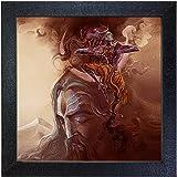 Sehaz Artworks 'Shiv Tandav' Wall Photo Painting (Carbon Fibre, 30 cm x 30 cm x 3 cm, SZA-Shiv_Tandav_002)
