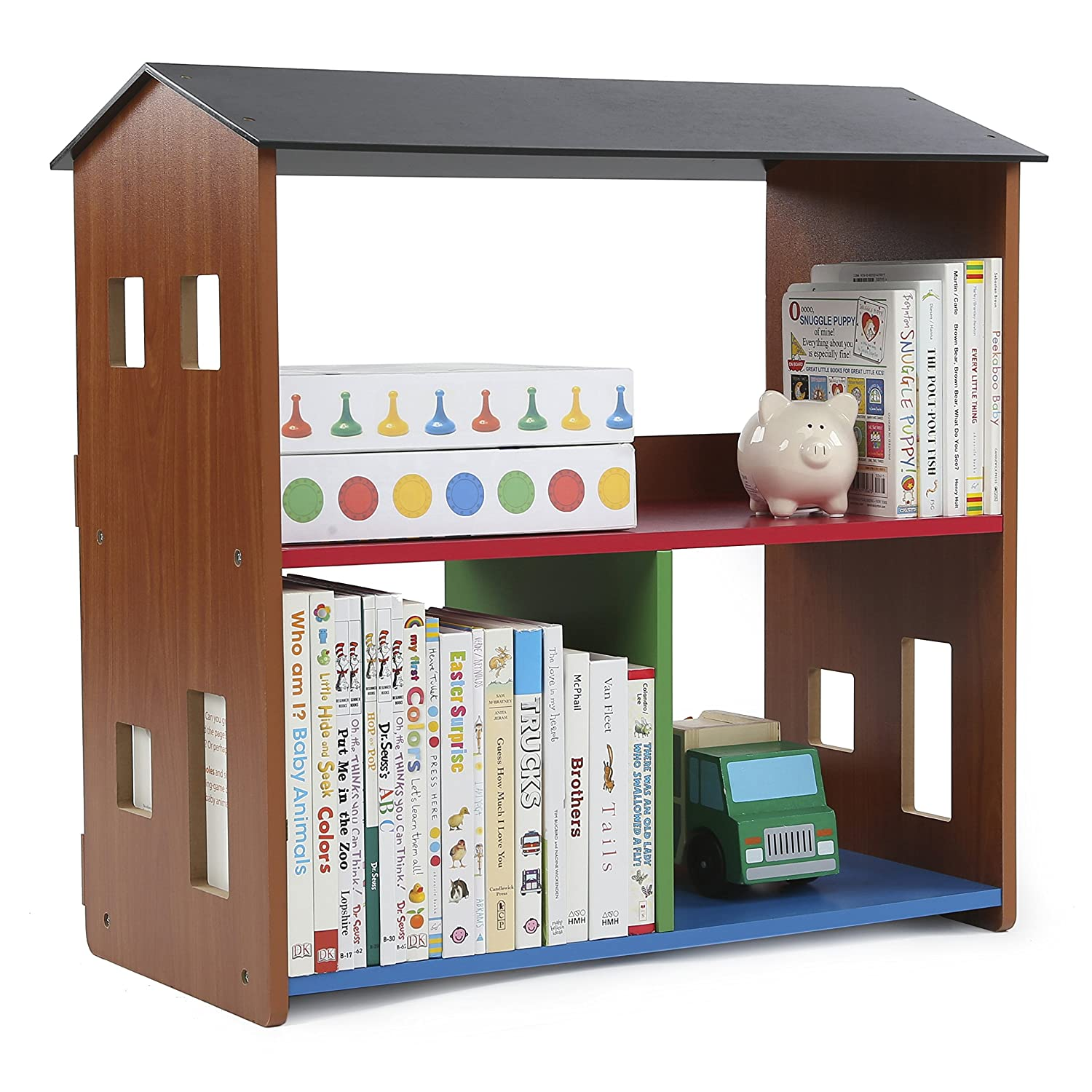Amazon.com: Tot Tutors Playtime Bookcase and Toy Storage, Brown ...