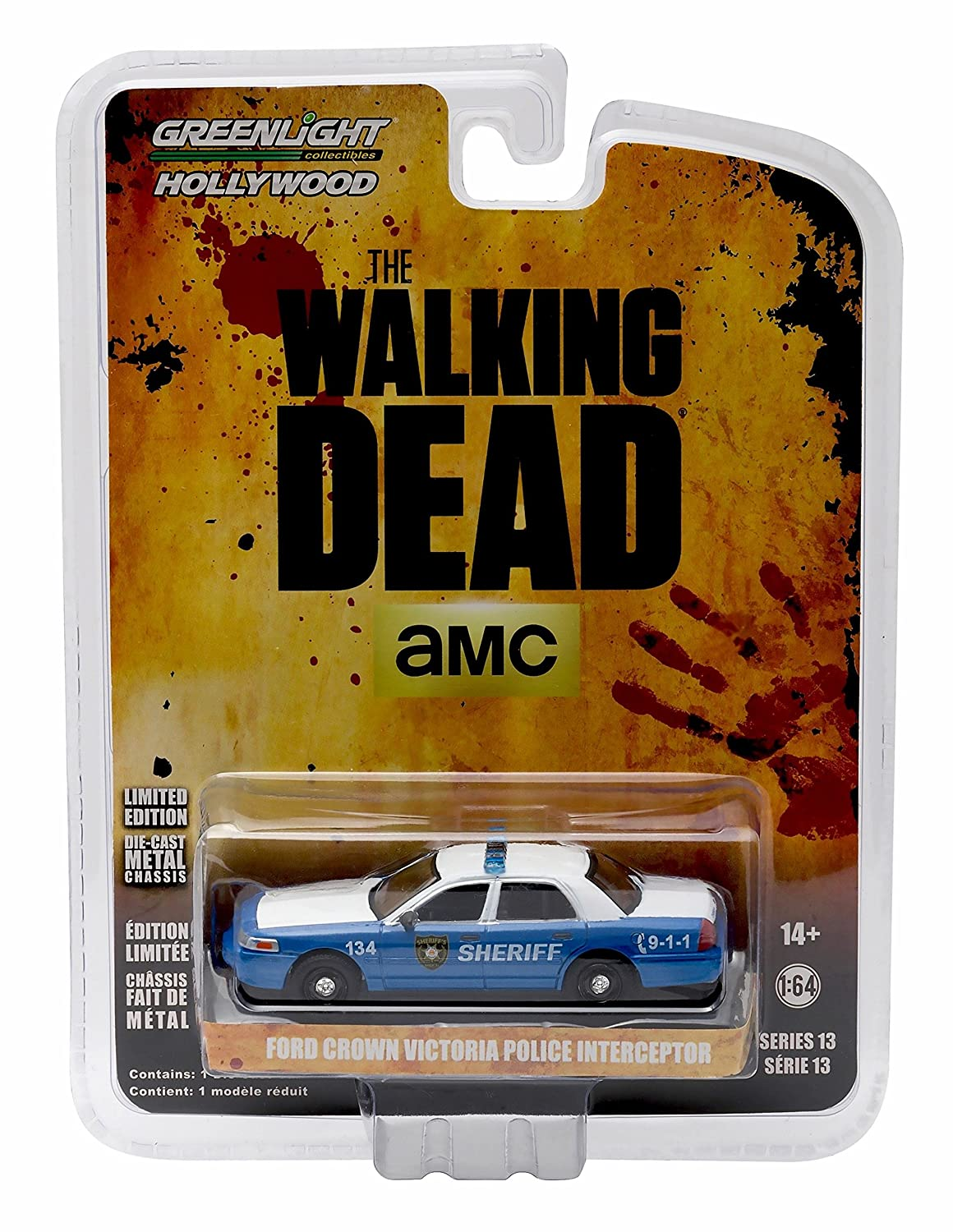 Rick Shane's FORD CROWN VICTORIA POLICE INTERCEPTOR Linden County Georgia Sheriff from THE WALKING DEAD * GL Hollywood Series 13 * 2016 Greenlight Collectibles 1 64 Scale Die Cast Vehicle