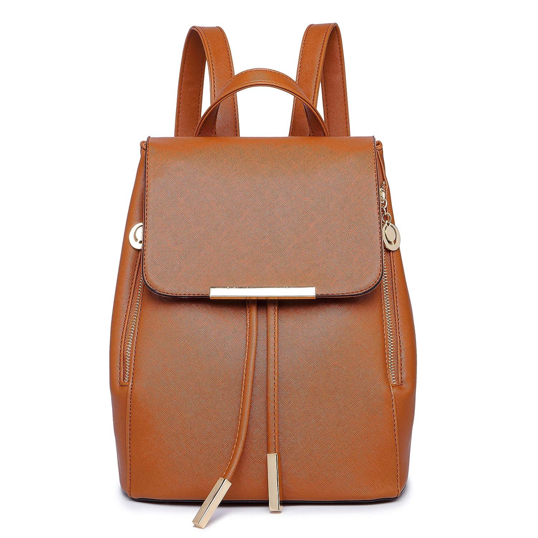 e61f8da1a9a09 Amazon.com: WINK KANGAROO Women's Fashion Shoulder Bag Rucksack PU Leather  Backpack Travel Bag, Beige, Medium: Clothing